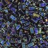Miyuki Tila Half Cut 5X2.3mm 2Hole Dark blue Opaque iris Metallic